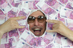 Happy euro man Stock Photo