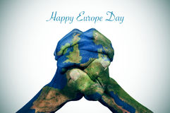 Happy europe day Royalty Free Stock Photography