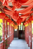 Happy event in the house.The ancient Chinese traditional wedding Stock Photo
