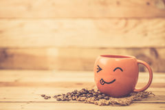 Happy every morning with drink coffee Royalty Free Stock Image