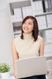 Happy excited Asian businesswoman Royalty Free Stock Photo