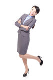 Happy excited business woman Royalty Free Stock Image