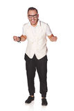 Happy excited man screaming celebrating success Royalty Free Stock Photography