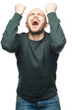 Happy excited man screaming Stock Image