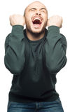 Happy excited man screaming Stock Photography