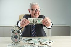 Rich wealthy man Stock Photography