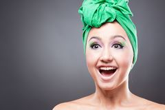 Happy excited woman Royalty Free Stock Photos