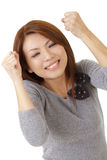 Happy excited woman Stock Photography
