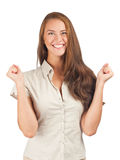 Happy excited woman Royalty Free Stock Photography
