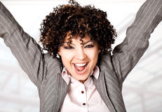 Happy excited woman Royalty Free Stock Image