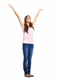 Happy excited woman. Royalty Free Stock Images