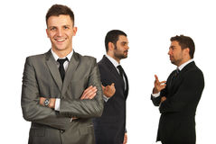 Happy executive and his team Royalty Free Stock Photography