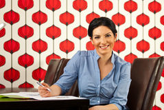 Happy executive in modern office Stock Images