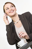 Happy Executive Phone Call Stock Images