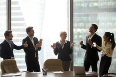 Free Happy Executive Team Dancing To Music Having Fun In Office Stock Image - 139894131