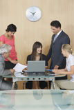 Happy Executives In Meeting At Office royalty free stock image