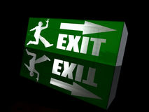Happy exit Royalty Free Stock Photography