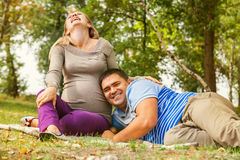 Happy expectant time Stock Images