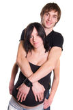 Happy expectant young couple Stock Images