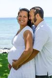 Happy expecting pregnant couple Royalty Free Stock Photo