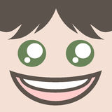 Happy expression Royalty Free Stock Images