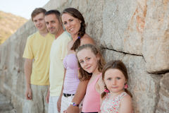 Happy extended family. Parents with children , step families Royalty Free Stock Image