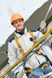 Happy facade builder worker Stock Photography