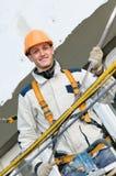 Happy facade builder worker Stock Photography