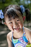 A happy face. Of a chinese girl Royalty Free Stock Image