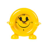 Happy face alarm clock Stock Images