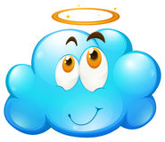Happy face on blue cloud Royalty Free Stock Photo