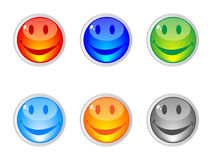 Happy Face Buttons Royalty Free Stock Image