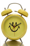 Happy Face Clock Royalty Free Stock Images