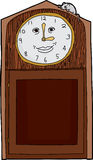 Happy Face Clock with Mouse Royalty Free Stock Photo