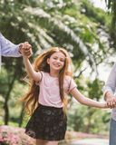 Happy face of daughter Royalty Free Stock Photography