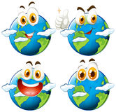 Happy face on earth Royalty Free Stock Photography