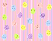 Happy Face Easter Eggs Background stock images