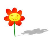 Happy face flower illustration Stock Photo