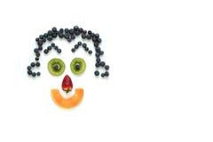 Happy face fruits Royalty Free Stock Photos