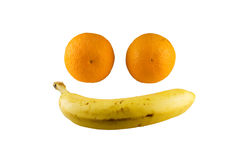 Happy Face Of Fruits Stock Images