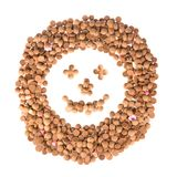 Happy face of ginger nuts Stock Photo