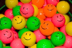 Happy Face Golfballs Stock Images