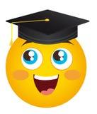 Happy face graduate stock illustration