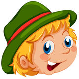 A happy face of a kid royalty free illustration