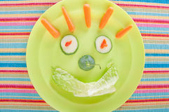 Happy face lunch Royalty Free Stock Photos