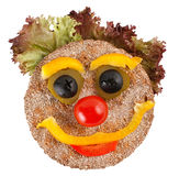 Happy Face Made Of Vegetables Royalty Free Stock Photo