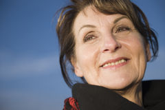 Happy face of mature woman Royalty Free Stock Image