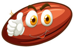 Happy face on rugby ball Stock Images