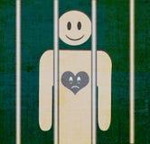 Happy Face Sad Heart - Happy Outside Sad Inside. An illustration of Happy Face Sad Heart -Happy Outside Sad Inside. Illustration shows prisoner looking outside Royalty Free Stock Photos