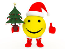 Happy face in Santa's costume Royalty Free Stock Photos